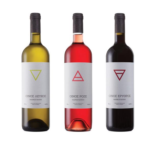 Greek wine label 4 Elements