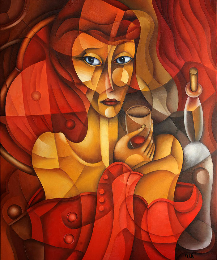 eugene-Ivanov-Oil-painting-01.00_Woman-in-Red_Lot-2581