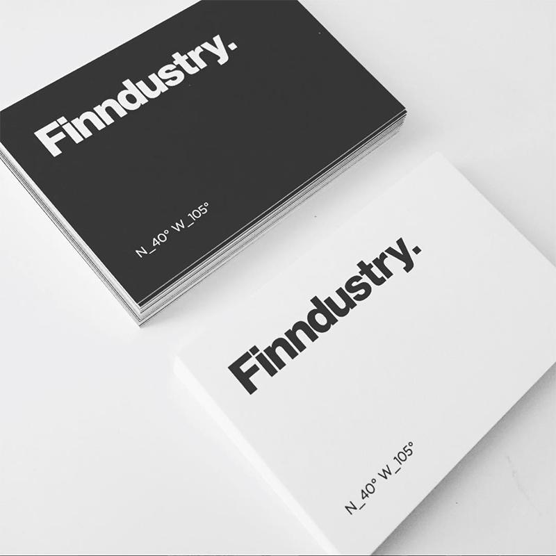 """Finndustry"" is Derek's Friday studio. Logo designed by himself."