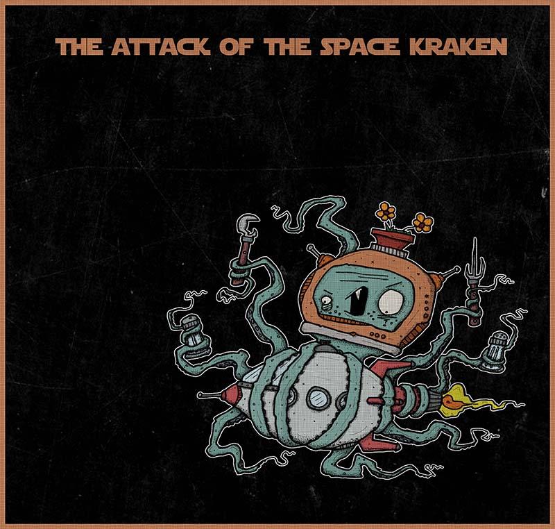 Space Kraken by Isko Deranged