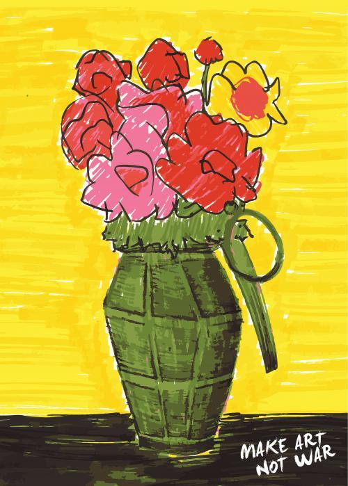Make art not war by Yamil enrique Castro flores