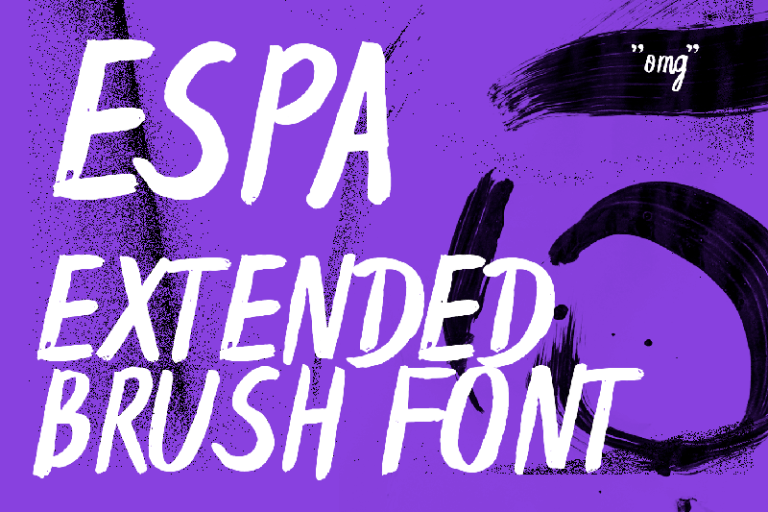 Espa Extended Handwritten Brush Font