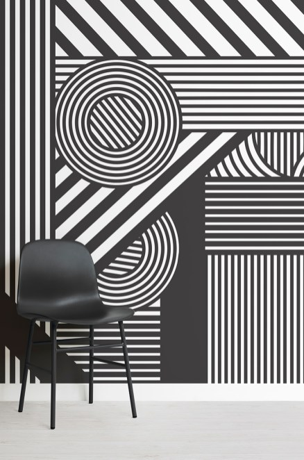 Oriz-Geometric-Black-and-White-Mural-Lifestyle