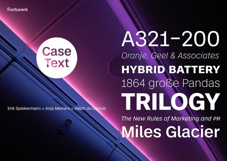 Case – Fontwerk's new stunning typeface by Erik Spiekermann