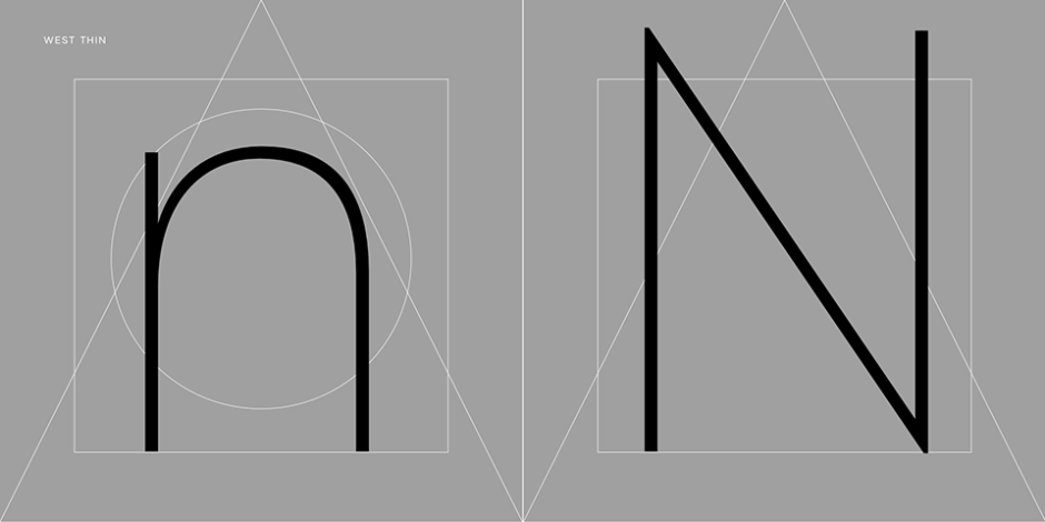 West brand new typeface