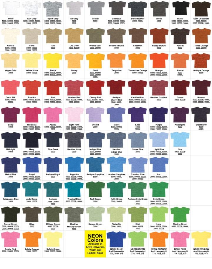 Gildan Color Chart Pdf Todayss