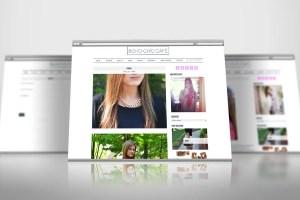 Mobile responsive fashion blog.