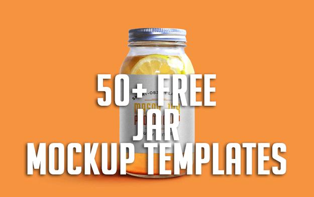 50+ Free Jar Mockup Templates