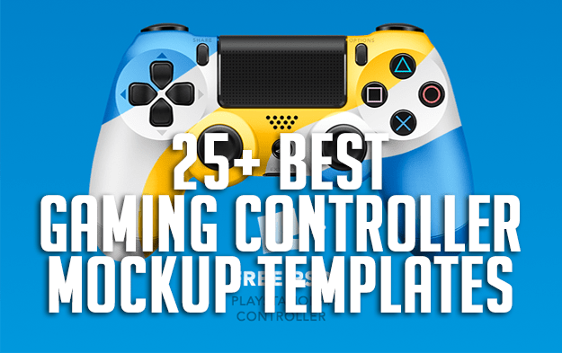 25 Best Gaming Controller Mockup Templates Ps4 Xbox Smartphone