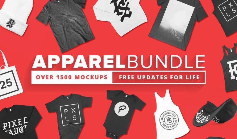 1500+ Apparel Mockups Bundle 98% Off