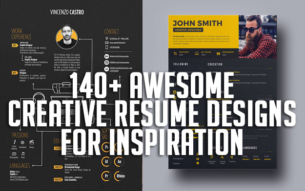 140+ Awesome Creative Resume Designs for Inspiration