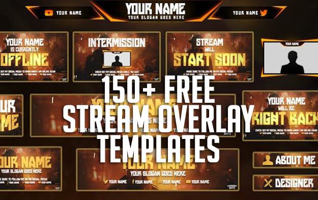 150+ FREE Stream Overlay Templates