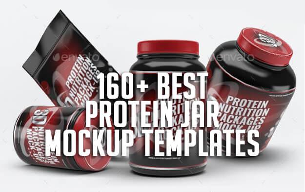 160+ Best Protein Jar Mockup Templates