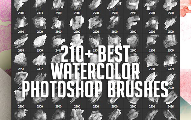 210+ Best Watercolor Photoshop Brushes