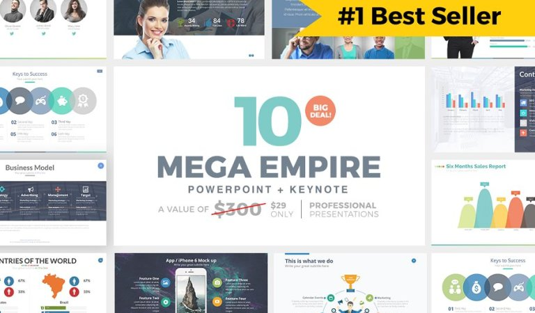 MEGA EMPIRE Powerpoint + Keynote 90% Off