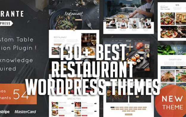 130+ Best Restaurant WordPress Themes for 2019