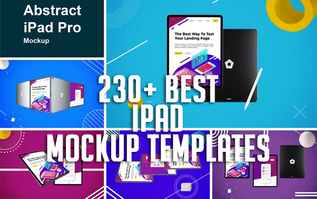 230+ Best iPad Mockup Templates