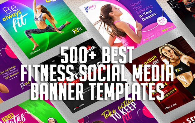 500+ Best Fitness Social Media Banner Templates