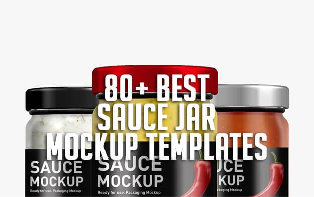 80+ Best Sauce Jar Mockup Templates