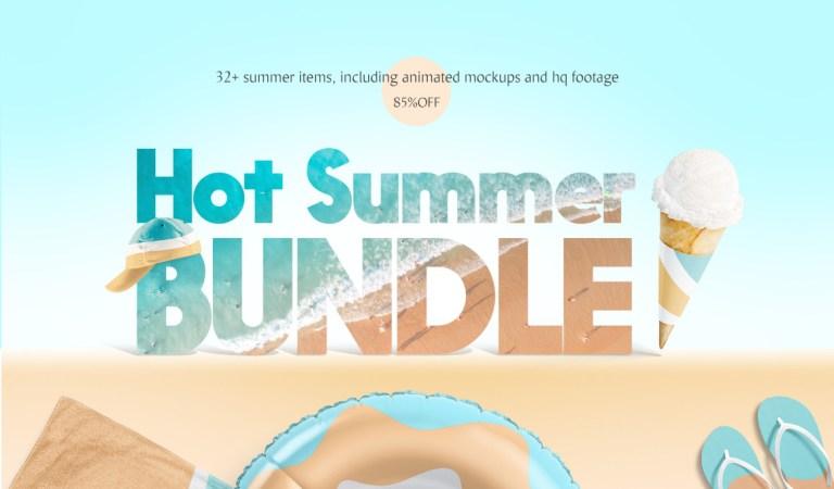 Hot Summer Mockup Bundle 85% Off