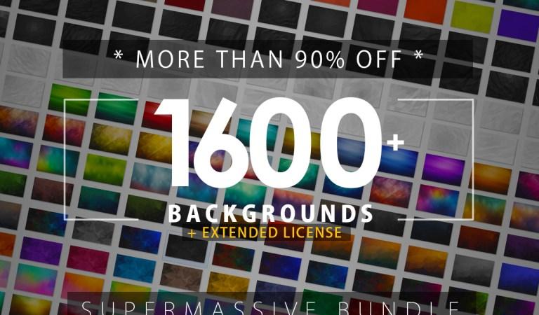 1600+ Backgrounds Bundle 90% Off
