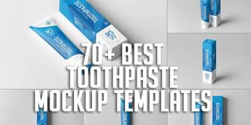 70+ Best Toothpaste Mockup Templates