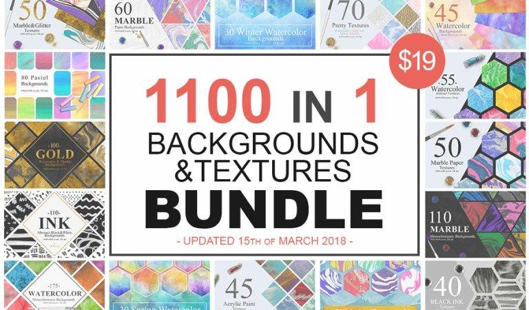 1100 Artistic Backgrounds Bundle