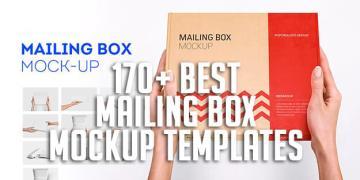 170+ Best Mailing Box Mockup Templates