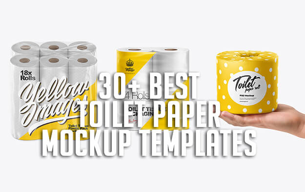 30+ Best Toilet Paper Mockup Templates