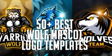 50+ Best Wolf Mascot Logo Templates for eSports, Team and Clan