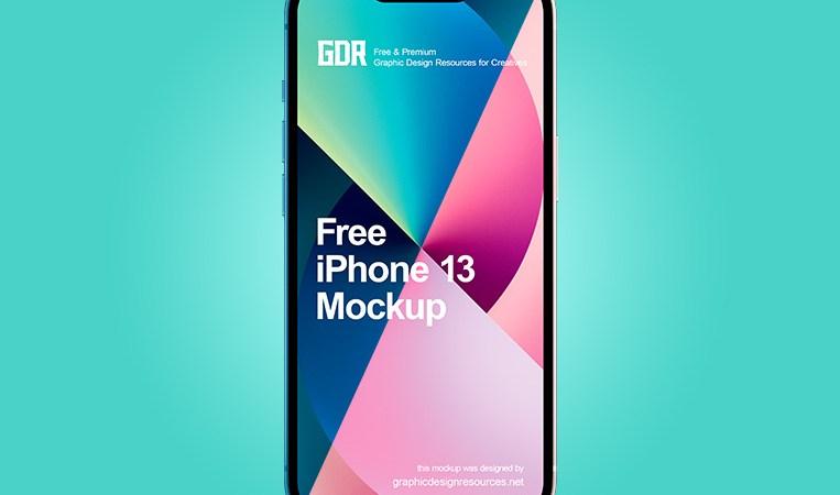 Free iPhone 13 Mockup