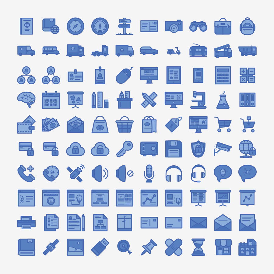 Graphic Ghost - 100 Free Annual Report Icons