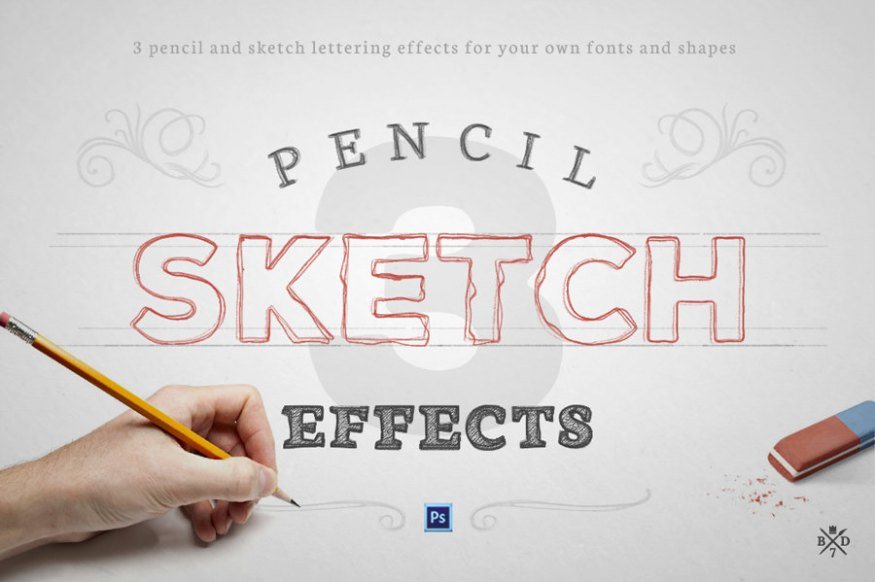 Graphic Ghost - August Deal 01 - Basari Design - Pencil Sketch Effects