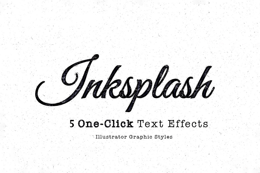 Graphic Ghost - Inksplash Text Effects