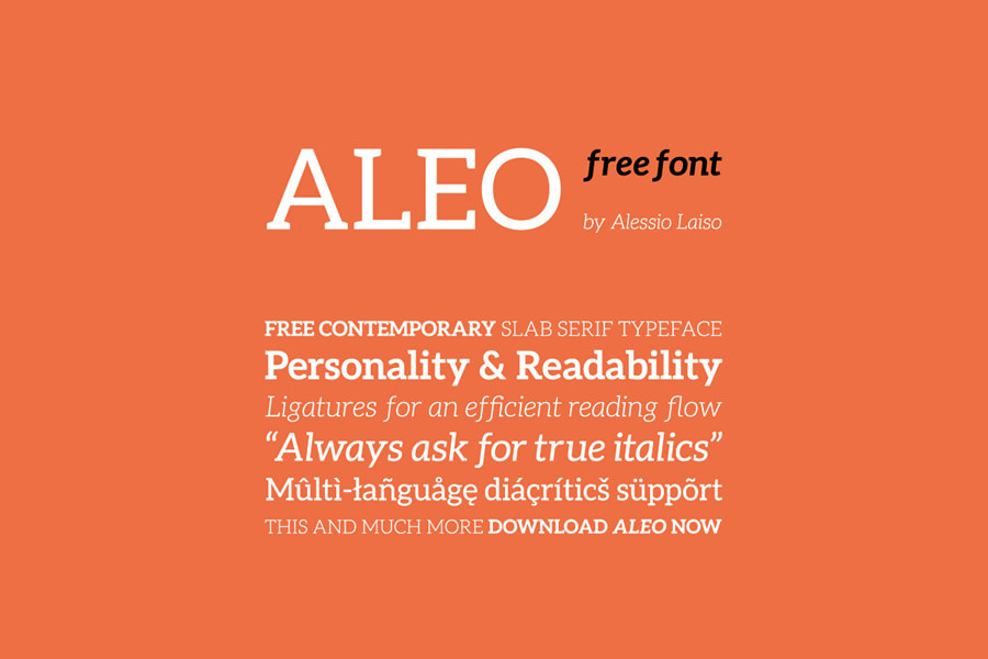 Graphic Ghost - Aleo Free Font