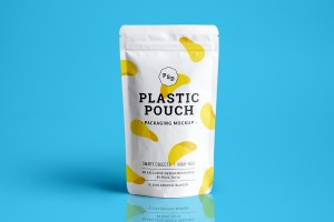 Graphic Ghost - Plastic Pouch Packaging Mockup