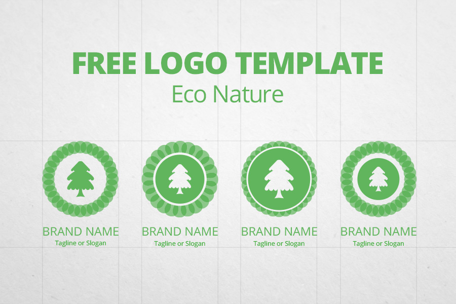 graphic ghost free logo template eco nature - Photo Templates Free