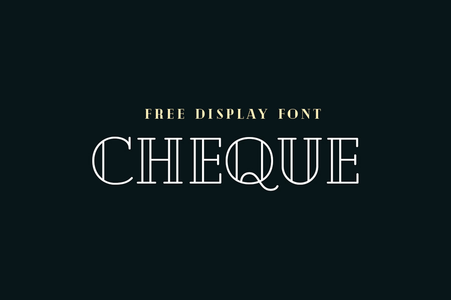 Graphic Ghost - Cheque - Free Display Font