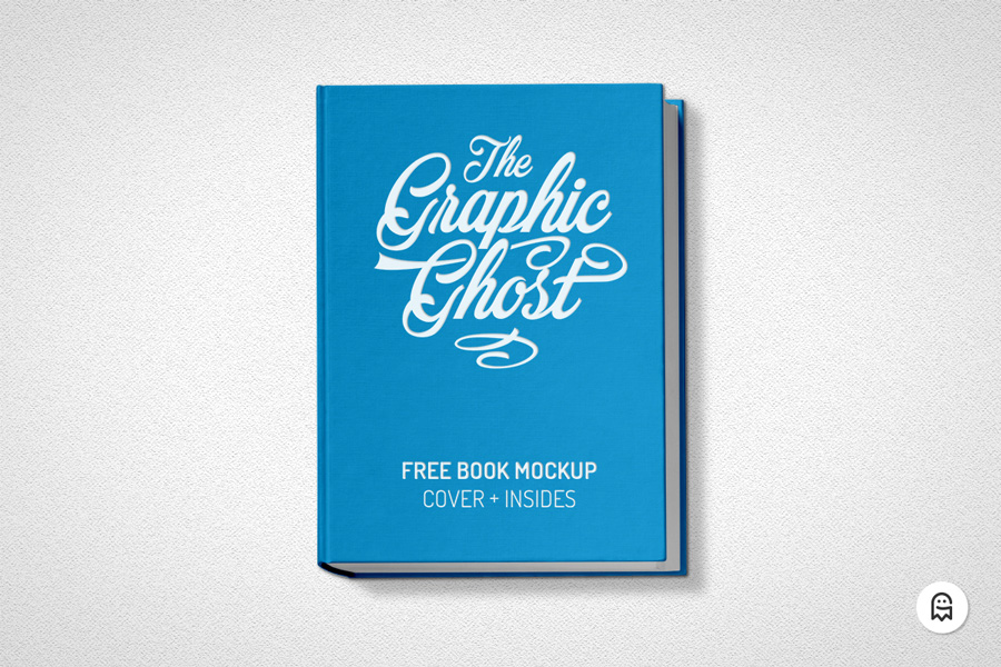 free book mockup graphic ghost