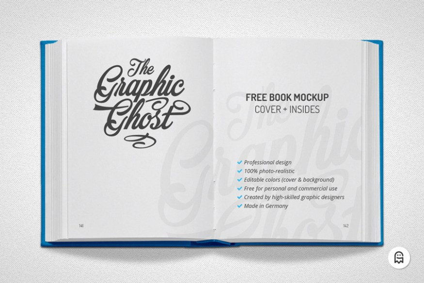 Graphic Ghost - Free Book Mockup 02