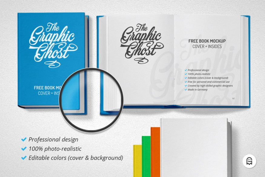 Graphic Ghost - Free Book Mockup 03