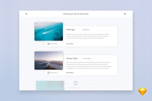 Graphic Ghost - Popular Destination UI Card for Sketch