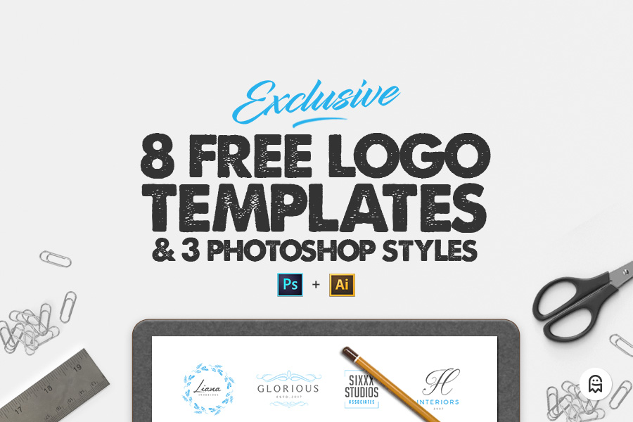 8 free logo templates graphic ghost