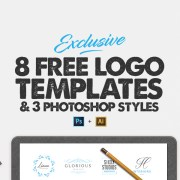 Graphic Ghost - 8 Free Logo Templates