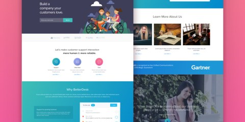 Graphic Ghost - BetterDesk - Sketch Website Template