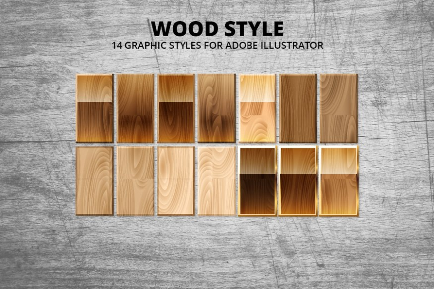 Graphic Ghost - Wood Style Vector Textures - Preview 01