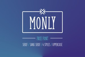 Graphic Ghost - Monly - Free playful font in 4 styles