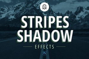 Graphic Ghost - Stripes Shadow Effects