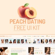 Graphic Ghost - Peach Dating Free UI Kit