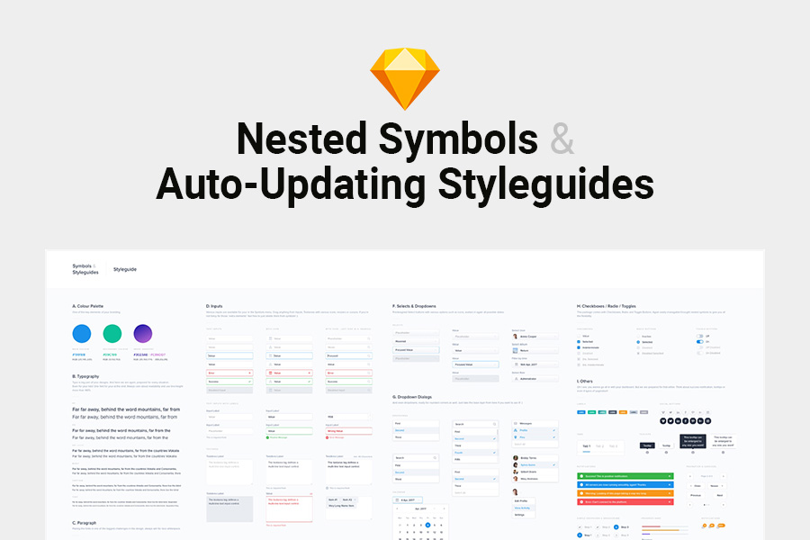 Sketch Nested Symbols Auto Updating Styleguides Graphic Ghost